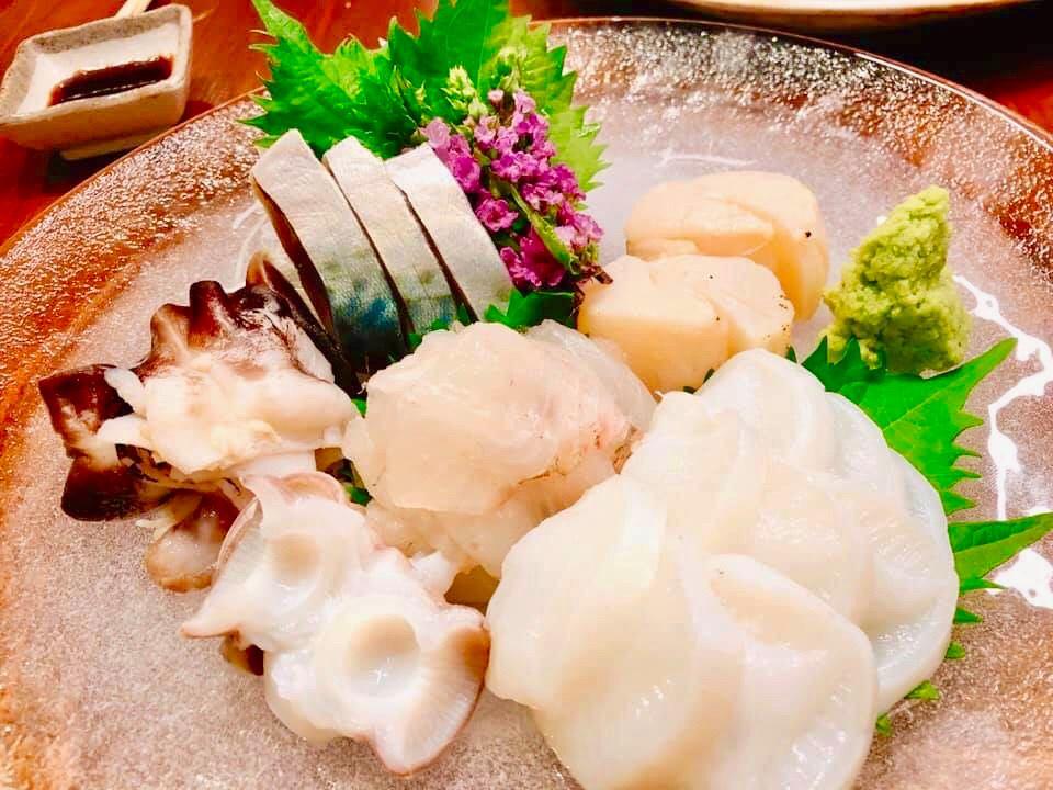 多良々の料理(刺身)